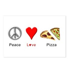 Peace Love Pizza Postcards (Package of 8)