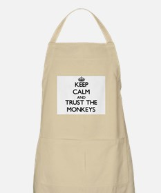Keep calm and Trust the Monkeys Apron