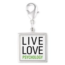 Psychology Silver Square Charm