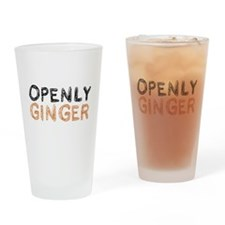 'Openly Ginger' Drinking Glass