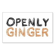 'Openly Ginger' Decal