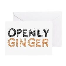'Openly Ginger' Greeting Card
