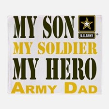 Army Dad Throw Blanket