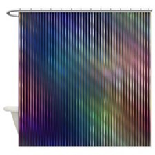 Blue Rainbow Stripes Shower Curtain