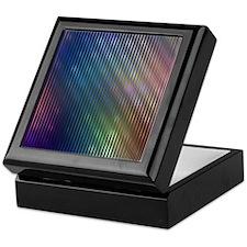 Blue Rainbow Stripes Keepsake Box