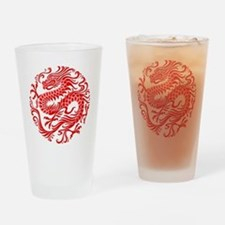 Traditional Chinese Dragon Circle Drinking Glass
