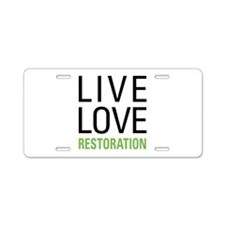 Restoration Aluminum License Plate