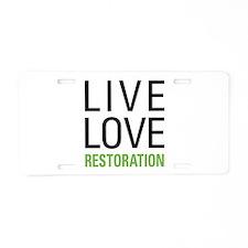 Restoration Aluminum License Plate