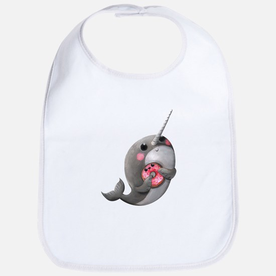 Cute Narwhal with Donut Bib
