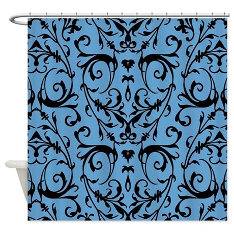 Black And Beige Shower Curtain Full Circle Shower Curtain