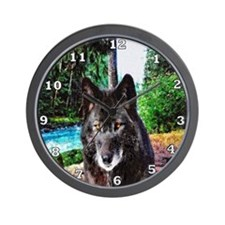 Old Man Wolf Wall Clock
