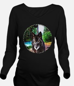 Old Man Wolf Long Sleeve Maternity T-Shirt