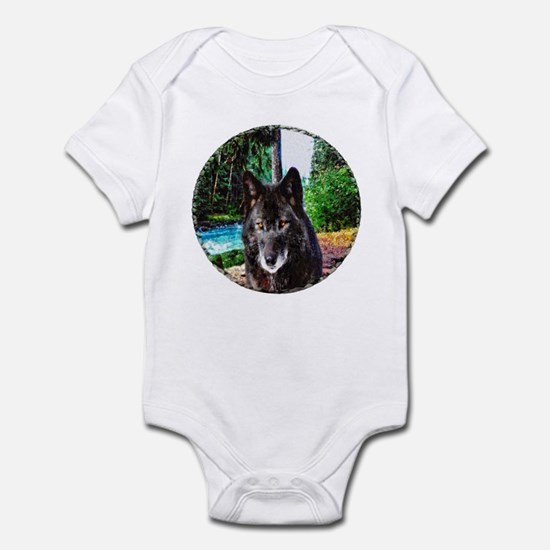 Old Man Wolf Infant Body Suit