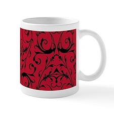 Red And Black Damask Pattern Mugs