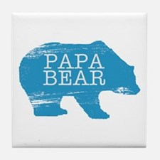 Papa Bear Tile Coaster