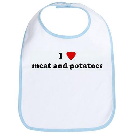 I Love meat and potatoes Bib