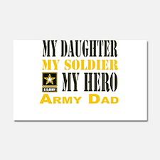 Army Dad Daughter Car Magnet 20 x 12