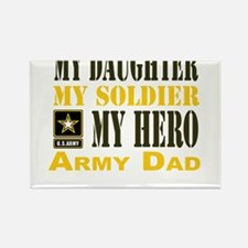 Army Dad Daughter Rectangle Magnet
