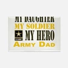 Army Dad Daughter Rectangle Magnet (10 pack)