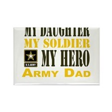 Army Dad Daughter Rectangle Magnet (100 pack)