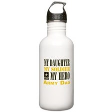 Army Dad Daughter Water Bottle