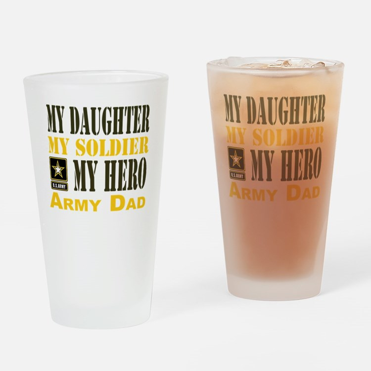 Army Dad Daughter Drinking Glass