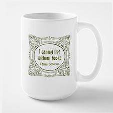 Without Books (green) Mugs