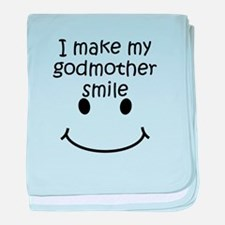I Make My Godmother Smile baby blanket