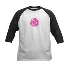 Traditional Pink Chinese Dragon Circle Baseball Je