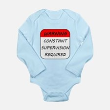 Warning Constant Supervision Required Body Suit