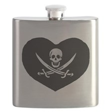 Pirate Heart Flask