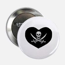 "Pirate Heart 2.25"" Button"