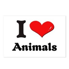 I love animals  Postcards (Package of 8)