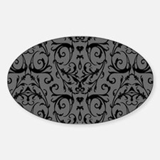 Grey And Black Damask Pattern Decal