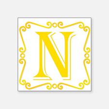 Gold Letter N Sticker