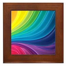 Rainbow Delight Framed Tile