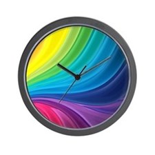 Rainbow Delight Wall Clock