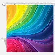 Rainbow Delight Shower Curtain