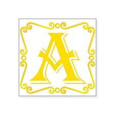 Gold Letter A Sticker