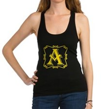 Gold Letter A Racerback Tank Top