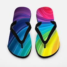 Rainbow Delight Flip Flops