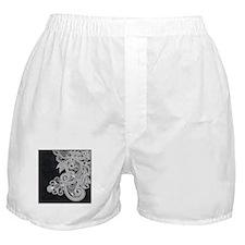 Black and White Decorative Boxer Shorts