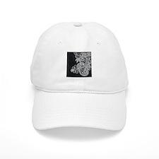 Black and White Decorative Baseball Baseball Cap
