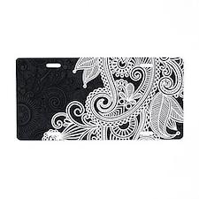 Black and White Decorative Aluminum License Plate