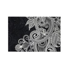 Black and White Decorative Magnets