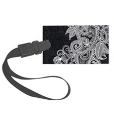 Black and White Decorative Luggage Tag