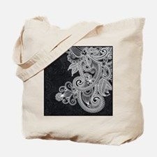 Black and White Decorative Tote Bag