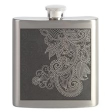 Black and White Decorative Flask