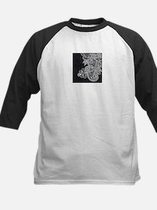 Black and White Decorative Baseball Jersey