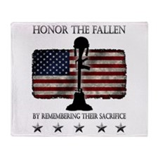 Honor The Fallen Throw Blanket
